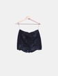 Minifalda negra combinada polipiel Zara
