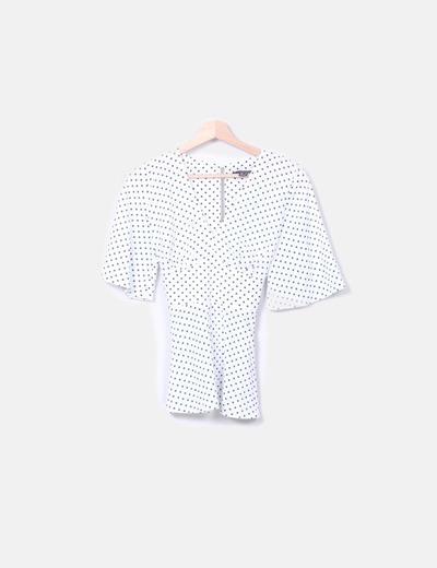 Primark Weiße Bluse mit Flecken (Rabatt 57 %) - Micolet d960a6019a