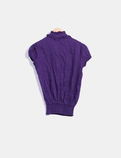 Camisa morada manga corta