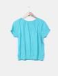 Blusa verde texturizada bordada Atmosphere