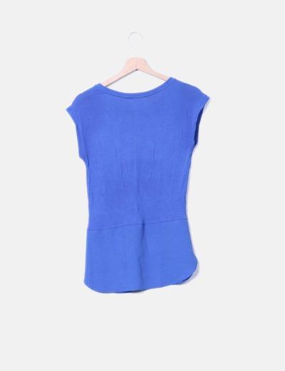 Camiseta combinada azul klein