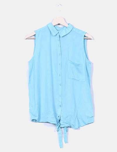 Blusa turquesa Pull&Bear