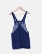 Salopettes robe en jeans foncé Zara