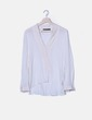 Blusa manga larga blanca escote en pico Zara