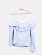 Camisa de rayas escote barco volante Ivivi