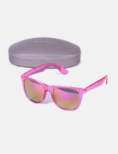 Parfois Óculos de sol com armação rosa e lentes polarizadas ... b9795d1b3f