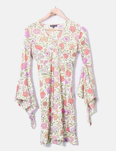 babuk Robe fleurie col en v (réduction 82%) - Micolet b25f10e9aa81