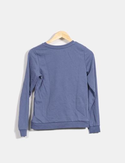 59ea2d7b50d Kiabi Sudadera azul print (descuento 80%) - Micolet