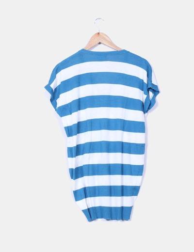 Jersey oversize de rayas azules y blancas