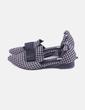 Zapato de punta cuadros con lazo redyazel