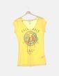 Camiseta amarilla estampada H&M