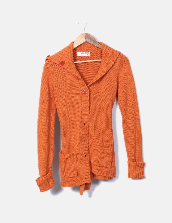 Baratos Online Chaqueta De Naranja Y Mujer Punto Abrigos COwxd0qC