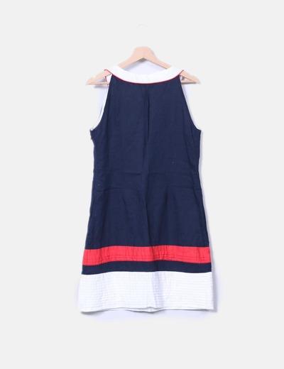 07d067707 Vestido pichi lino navy
