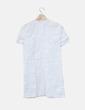 Vestido recto blanco bordado floral Zara