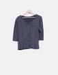 Top tricot gris abotonable H&M