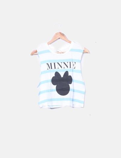 Camiseta de tirantes con print minie