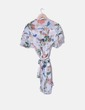 Vestido de gasa floral cruzado NoName