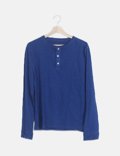 Camiseta básica azul jaspeado