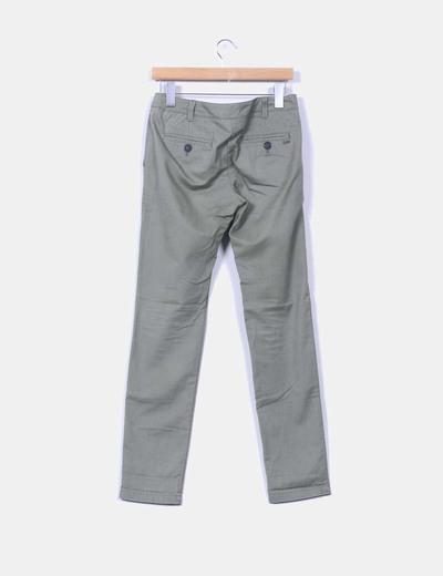 Pantalon de pinzas khaki