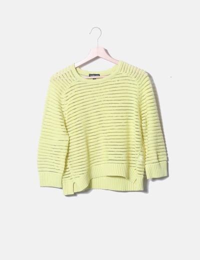 Jersey de rayas amarillo
