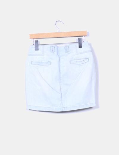 Mini falda vaquera clara