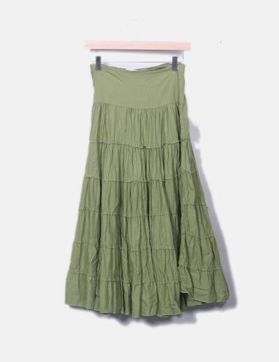 0254a213b Maxi falda verde