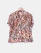 Blusa marrón estampada Vittorio