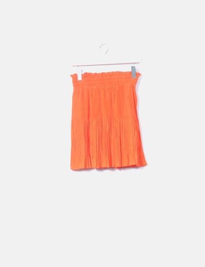 Mini falda con vuelo naranja H&M