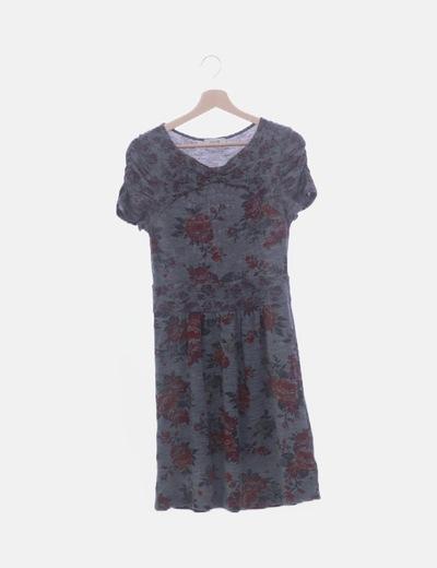 Vestido gris floral