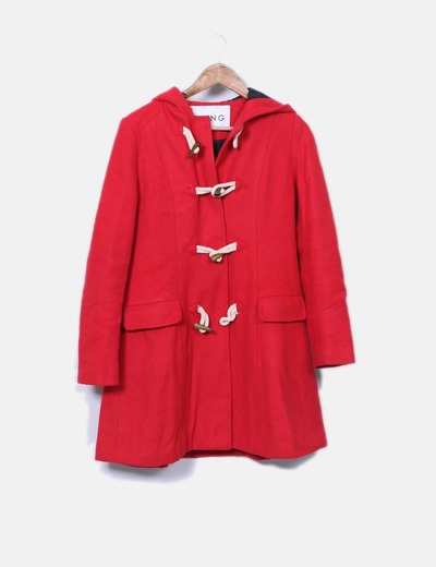 Kling Manteau rouge long avec capuche (réduction 84%) - Micolet 73d938fb0c87