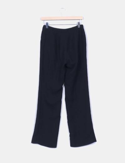 Pantalon sarga negro recto