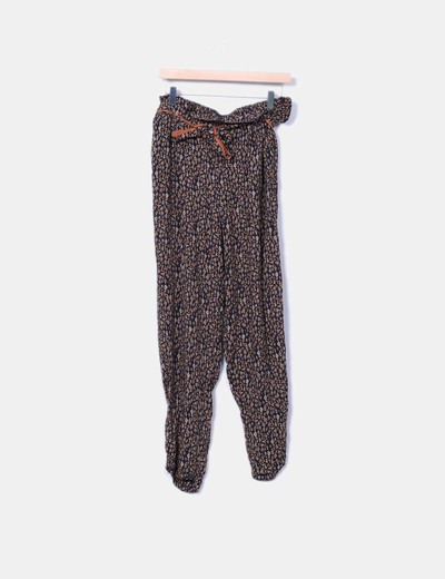 Pantalón baggi estampado Promod