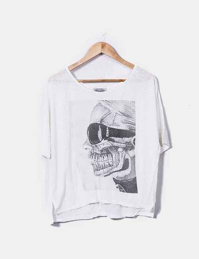 T-shirt blanc imprimé It Hippie