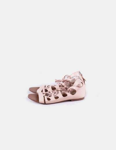 Sandalia estilo romano rosa
