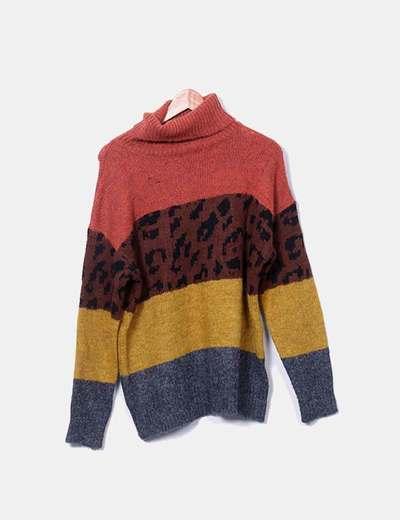Striped neckline sweater Kilky