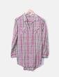Camisa marrón con cuadros rosas Venca