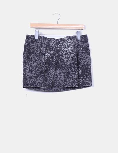 Falda mini animal print Zara