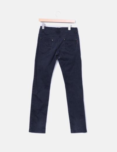 Pantalon demin negro recto