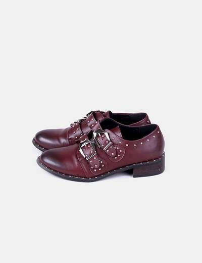 Blucher bordeaux con borchie Fashion&bella