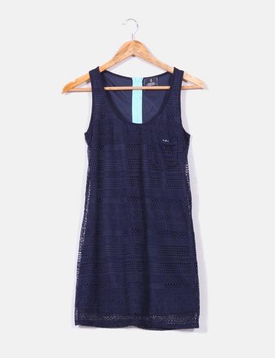 Vestido azul marino bershka