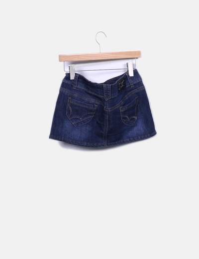 Mini falda denim oscuro