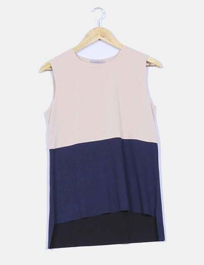Top tail hem bicolor COS