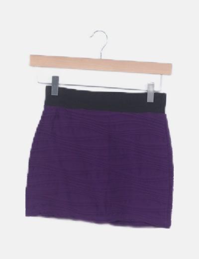 Mini falda morada plisada