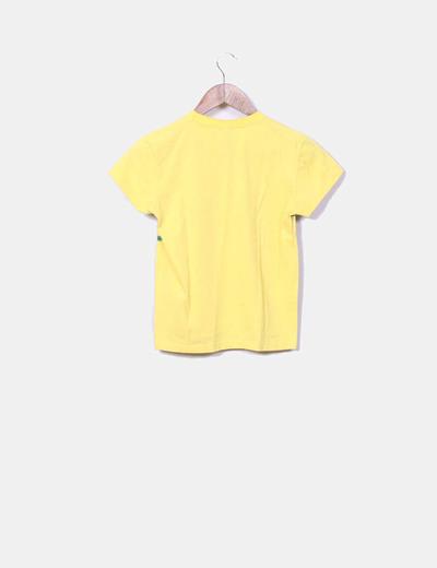 Camiseta amarilla estampada