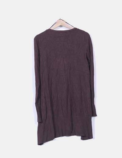 Cardigan tricot marron oscuro