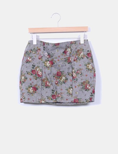 Mini falda estampado floral Suiteblanco