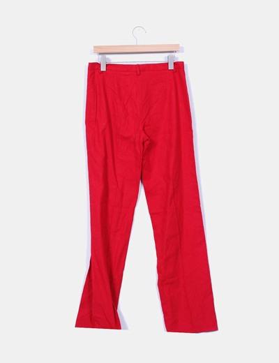 Pantalon rojo de lino