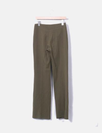 Pantalon verde kaki recto