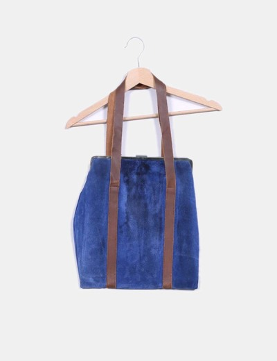 Bolso shopper ante azul Dayaday