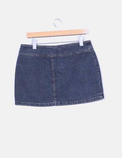 Mini falda denim oscura